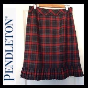 PENDLETON Virgin Wool Plaid Skirt
